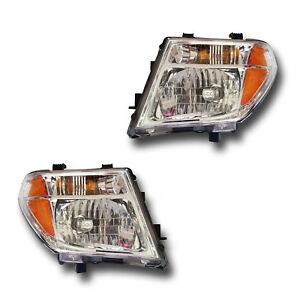 For Nissan Pathfinder Frontier Driver Passenger Headlight Lamp Assembly 1 Pair
