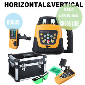 Green Beam Self leveling Horizontal vertical Rotary Laser Level Kit 500m W case