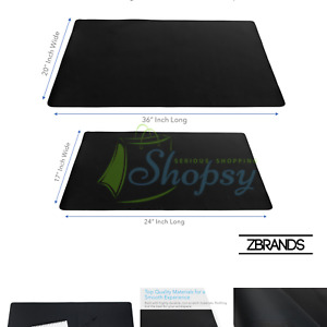 Zbrands Leather Smooth Desk Mat Pad Blotter Protector Midnight Black Ext