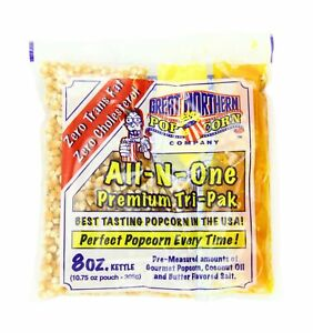 4110 Great Northern Popcorn Premium 8 Ounce Popcorn Portion Packs Case Of 24