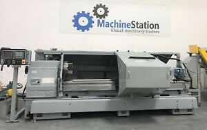 Mazak M5 2500 Cnc Oil Long Bed Lathe 18 Chuck Big Bore Fanuc Mori Okuma