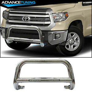 Fits 05 15 Toyota Tacoma Bull Bar 304 Stainless Steel Led Silver 3 Inch