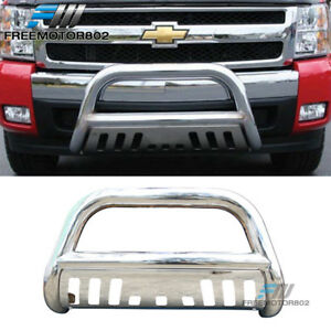 Fits 97 04 Ford F150 Expedition Bull Bar T304 Stainless Steel Silver 3inch
