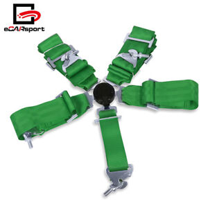 3 Green 5 Point Harness Camlock Racing Seat Belt Shoulder Quick Release Locking