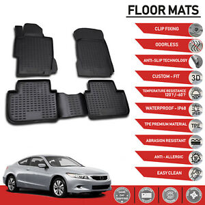 Floor Mats Liner 3d Molded Fit Protector Set For Honda Accord Coupe 2008 2012