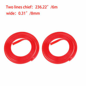 3m Rubber Red Door Edge Protect Strip Guard Molding Trim Decoration Strip Cover