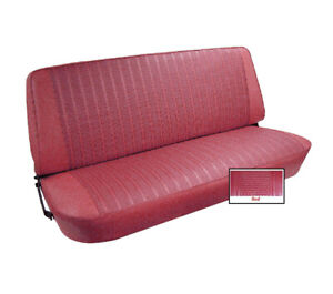 1973 77 Ford F Series Pickup Vinyl Bench Seat Cover Upholstery Kit Red Color