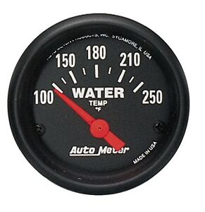 Autometer Products Gauge Water Temp 2 1 16 In 100 250 Degree F Electric