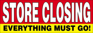 Store Closing Vinyl Banner Out Business Liquidation Clearance Sale Sign 3x10 Rb