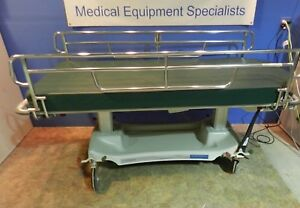 Steris X wide Bariatric Electric Gurney Stretcher With Comfor Pad Hand Control