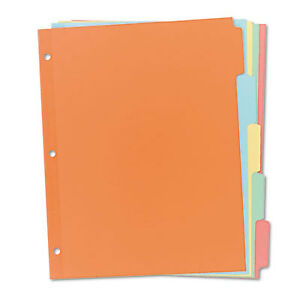 Write Erase Plain tab Paper Dividers 5 tab Letter Multicolor 36 Sets 11508