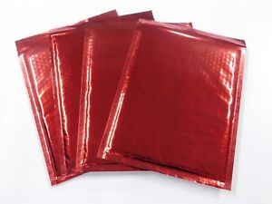 50 Red Metallic 8 5x11 Bubble Mailer Self Seal Envelope Padded Mailer 8x12
