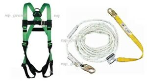 Werner Upgear Vertical Lifeline 50 Ft Rope W Lanyard Roofing Safety Harness