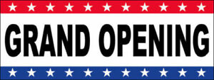 Grand Opening Vinyl Banner Sign 3x10 Ft Usa Wb