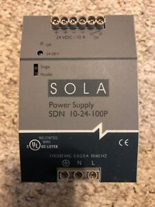 Sola Emerson Dc Power Supply Sdn 10 24 100p 24v Dc 10amps