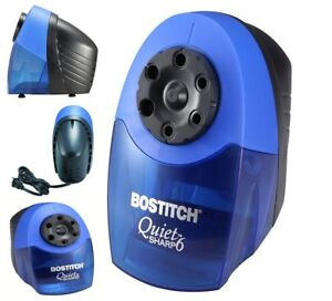Heavy Duty Classroom Electric Pencil Sharpener 6 holes Blue Portable Faster