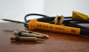 Antex Tc25 24v 25w Soldering Iron Cable And Extra Bit Tips