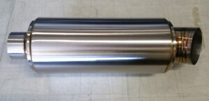 sale K tuned Turndown dolphin Tail Tip Universal Exhaust Muffler 2 5 Inlet