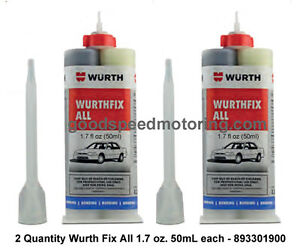 Wurth Fix All High Strength 2 Part Epoxy 893301900 2 Pack