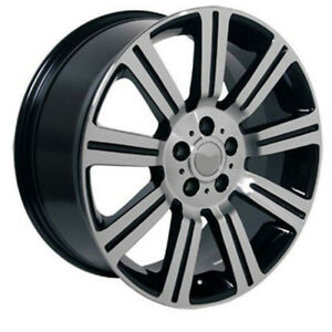 Black Wheel 20x9 5 W machined Face For 2006 2014 Land Rover Range Rover Sport