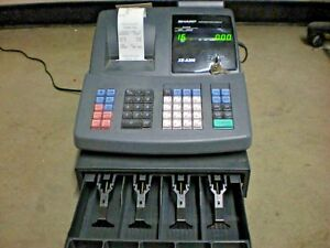 Sharp Xe a206 Electronic Cash Register Has 3 Keys And 20 Rolls Of Receipts csa