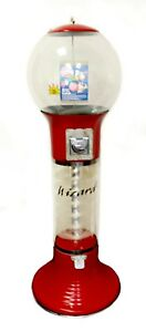 Wizard 25 Quarter Spiral Vending Machine For Gumballs Bouncy Balls red