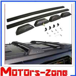 For 06 10 Hummer H3 Black Oe Style Roof Rack Cross Bars W Lock H3t Luggage Key