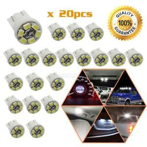 20x White T10 6 Smd Led Vehicles Lights For License Plate Bulbs Position Lamp