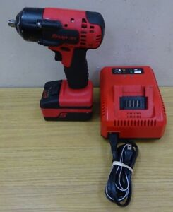 Snap On 18v 3 8 Impact Drill Li ion With Battery Charger Ct8810a