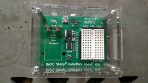 Parallax Basic Stamp Homework Board Usb Cable Case