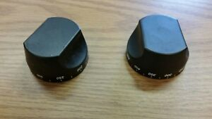 Dcs Dynamic Cooking Systems Black Oven Thermostat Knobs Set Of 2 6 20