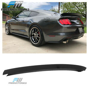 Fits 15 19 Ford Mustang R Style Rear Trunk Spoiler Wing Lid Matte Black Abs
