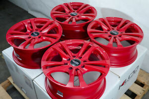 14 Wheels Fit Kia Sephia Spectra Optima Elantra Accent Accord Civic Red Rims