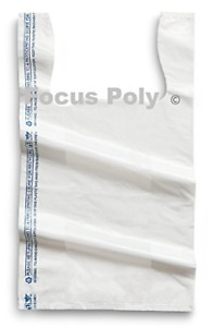 Small Plastic Bags White 1500 Count 8x4x15 Shopping Grocery