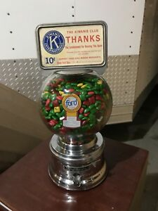 Antique Ford Glass Gumball Chicle Machine Works Great ford Gum free Ship