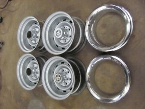 Chevy Gmc 4x4 15x8 Rally Wheels Date Matched Set 1977 77 M 1 6 10 15 dab