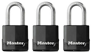 Master Lock Co Magnum 3 pack 1 3 4 Inch Covered All weather Key Alike Padlock