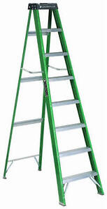Louisville Ladder Step Ladder Fiberglass Type Ii 225 lb Duty Rating 8 ft