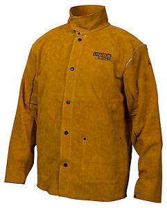 Lincoln Electric Co Leather Welding Jacket Large Kh807l