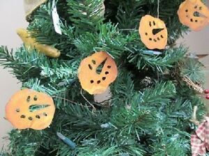 Primitive Rusty Tin Snowman Face Garland 70 Long With 2 Faces Winter Christmas