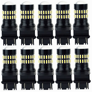 10x Auxito 3157 3156 3457 4057 Back Up Reverse Light Led Tail Bulb White 6000k A