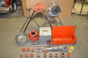 Ridgid 300 700 141 Threading Units 1 8 To 2 Dies Oiler Bucket 460 Stand