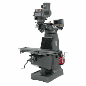 Jet 690265 Jtm 4vs Mill Acu rite Vue Dro X axis Powerfeed And 6 Riser Block