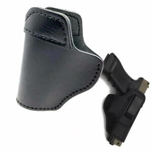 Leather IWB Gun Holster For S&W M&P Shield - GLOCK 17 19 22 23 32  Springfield