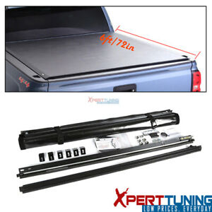 Fits 16 19 Toyota Tacoma 6ft 72in Bed Vinyl Roll Up Tonneau Cover
