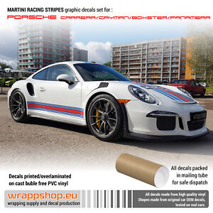Martini Racing Stripes For Porsche Carrera Cayman Boxster Panamera