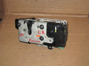 06 12 Ford Fusion Left Rear Driver Side Back Door Latch Power Lock Actuator