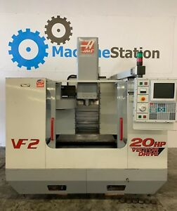 Haas Vf 2 Vertical Machining Center 4th Axis Ready Usb 20hp Mill Vmc Vf2