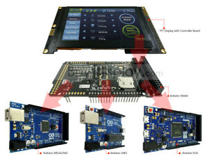 800x480 Display 4 3 Inch Tft Arduino Shield For Mega Due Uno W library ra8875