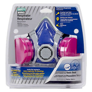 Safety Works Inc Toxic Dust Respirator Swx00319